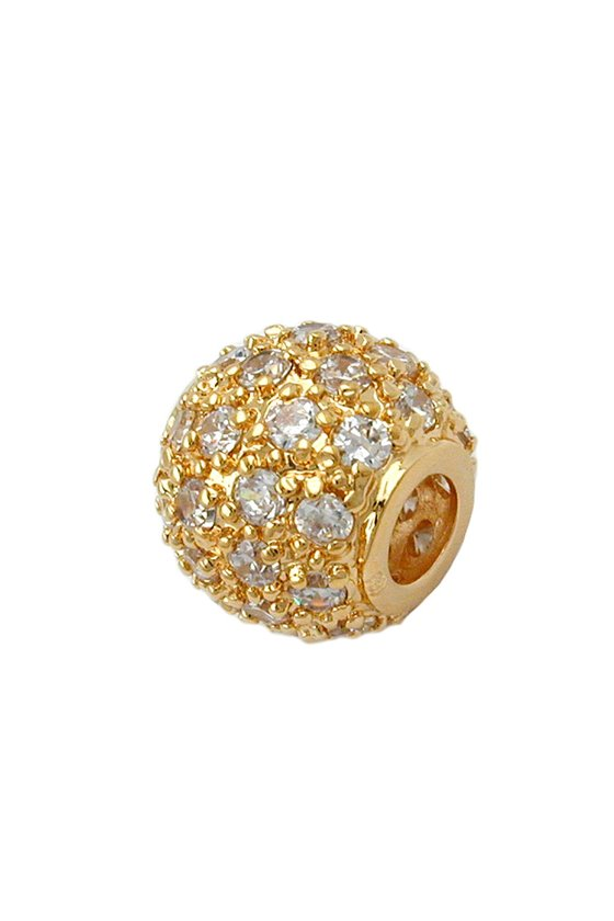 PENDANT BALL WITH ZIRCONIA GOLD-PLATED