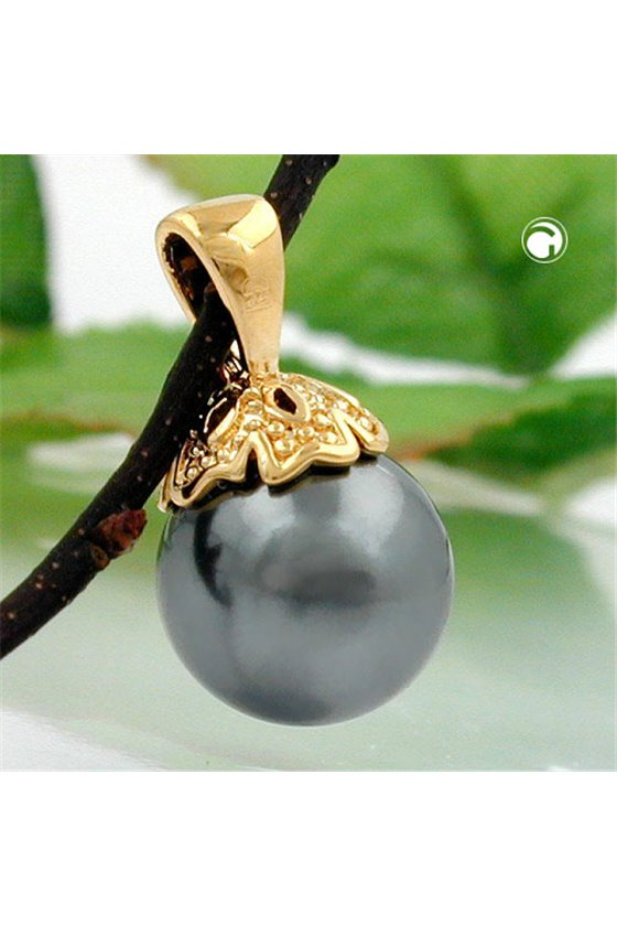 PENDANT PEARL 3 MICRON GOLD-PLATED