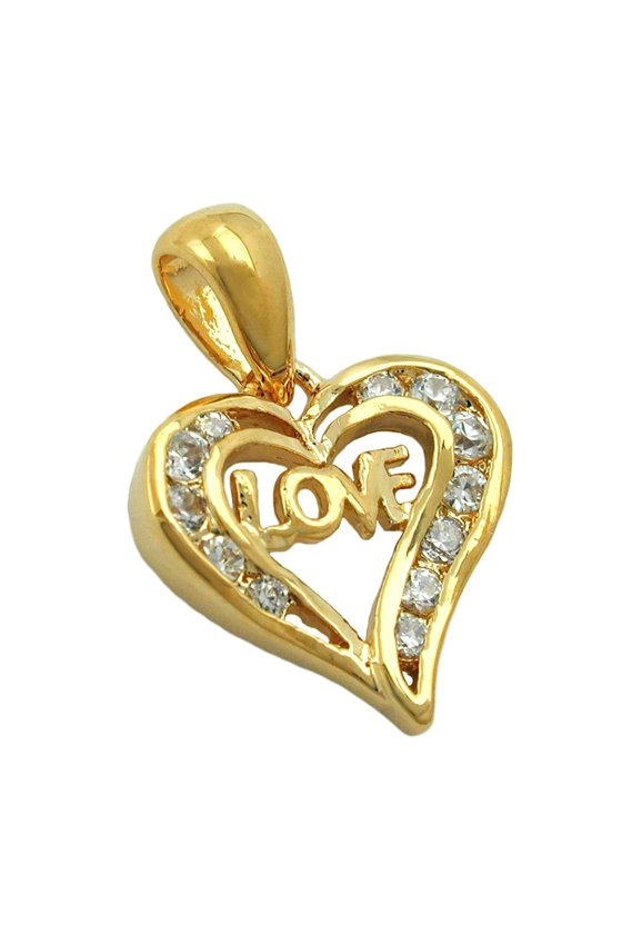 PENDANT HEART LOVE 3 MICRON GOLD-PLATED