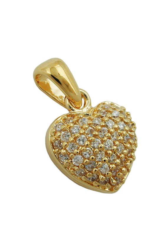 PENDANT HEART 3 MICRON GOLD-PLATED