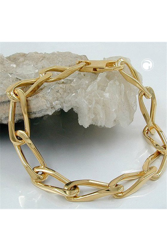 BRACELET OPEN CURB CHAIN GOLD PLATED