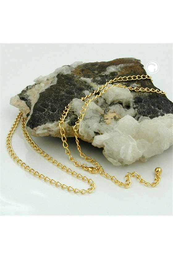 BELLY CHAIN OPEN CURB CHAIN GOLD PLATED