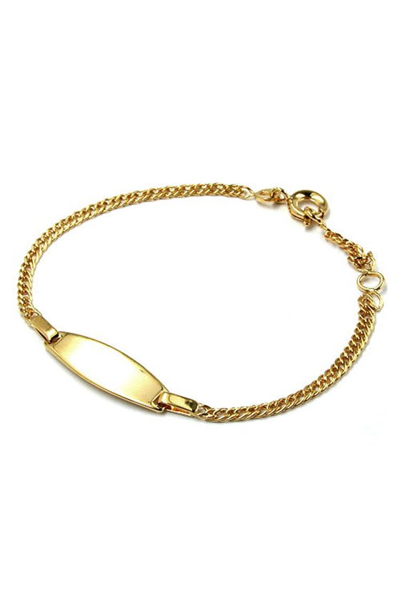 ID BRACELET DOUBLE ROMBO CHAIN GOLD PLATED
