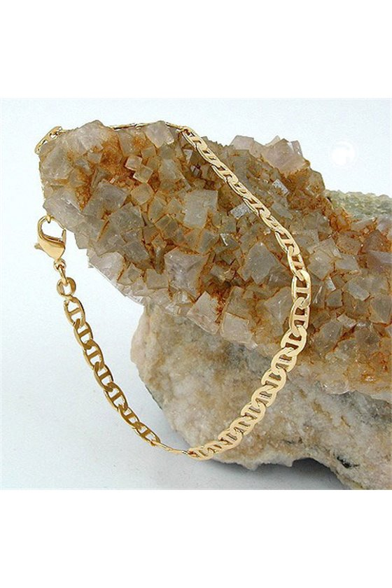 BRACELET THIN MARINER CHAIN GOLD PLATED