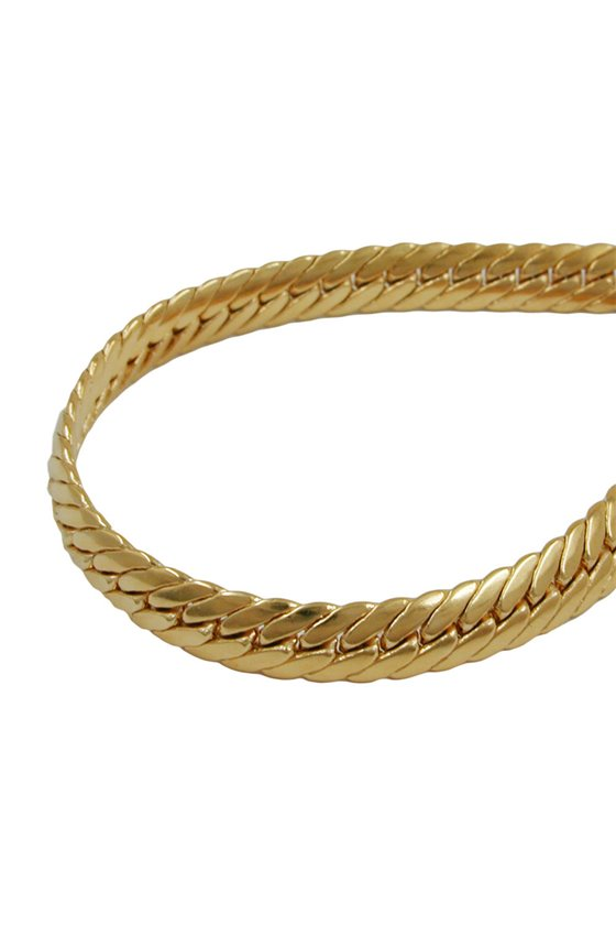BRACELET OVAL CURB CHAIN 5 MM GOLD PLATED 19CM