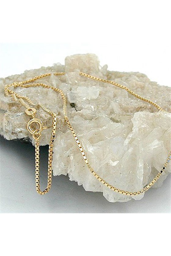 NECKLACE BOX CHAIN GOLD PLATED