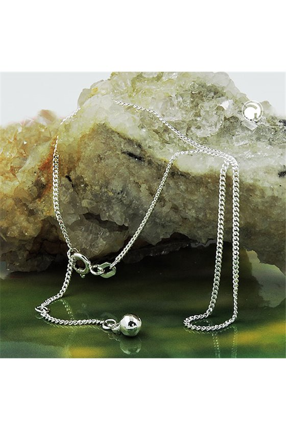 ANKLET CURB CHAIN SILVER 925 27CM