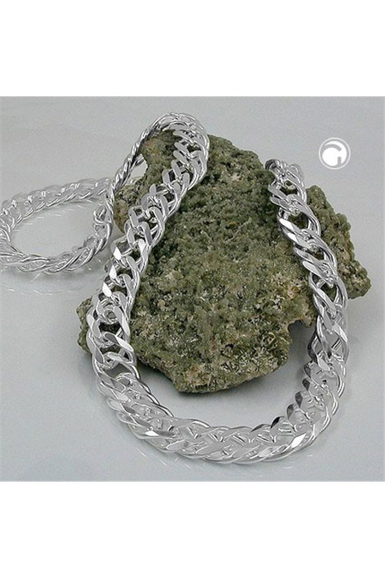 NECKLACE DOUBLE ROMBO CHAIN SILVER 925 55CM
