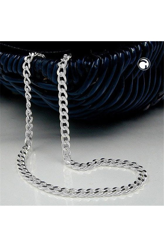 NECKLACE FLAT CURB CHAIN SILVER 925 45CM