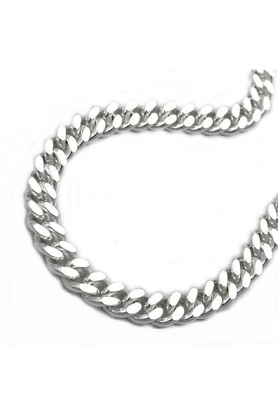 NECKLACE CURB CHAIN 4MM SILVER 925 55CM