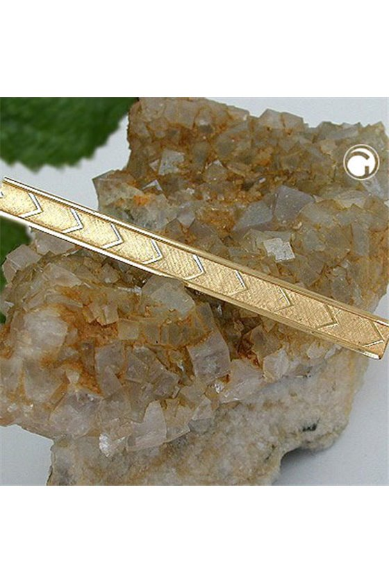 TIE PIN PATTERNED GLOSSY GOLD PLATED