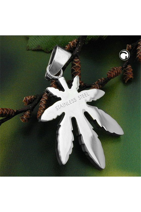 PENDANT FASHION CANNABIS LEAF STAINLESS STEEL