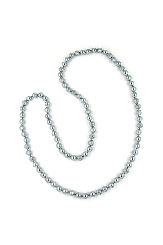 NECKLACE GLASS BEADS ANTHRACITE COLOURED