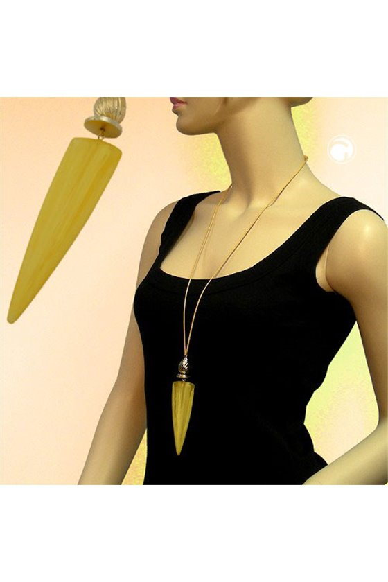 NECKLACE LARGE TRIANGLE YELLOW/ DULL